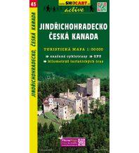 Wanderkarten Tschechien SHOcart Wanderkarte 45, Jindřichohradecko, Česká Kanada/Böhmisches Kanada 1:50.000 Shocart