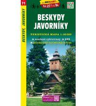 Wanderkarten Tschechien SHOcart Wanderkarte 71, Beskydy, Javorníky 1:50.000 Shocart