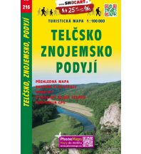 Radkarten SHOcart Tourist Map 216, Telčsko, Znojemsko, Podyjí 1:100.000 Shocart