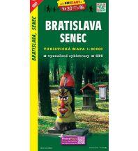 Wanderkarten Slowakei SHOcart Wanderkarte 1087, Bratislava/Pressburg, Senec 1:50.000 Shocart