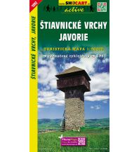 Wanderkarten Slowakei SHOcart Wanderkarte 1092, Štiavnické vrchy/Schemnitzer Berge, Javorie 1:50.000 Shocart