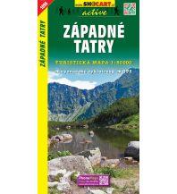 Wanderkarten Slowakei SHOcart Wanderkarte 1096, Západné Tatry/Westliche Tatra 1:50.000 Shocart