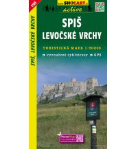 Wanderkarten Slowakei SHOcart Wanderkarte 1109, Špis/Zips, Levocské vrchy 1:50.000 Shocart