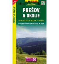 Wanderkarten Slowakei SHOcart Wanderkarte 1112, Prešov a okolie 1:50.000 Shocart