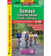 Radkarten SHOcart Cycling Map 155 - Sumava, Zeleznorudsko 1:60.000 Shocart