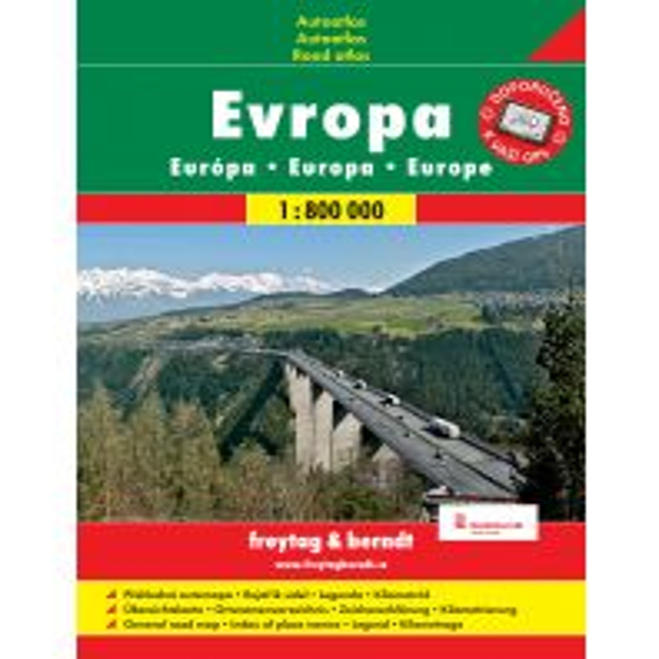 f&b Straßenkarten f&b Prag Autoatlas - Europa 1:800.000 (Spiralbindung) freytag & berndt Praha