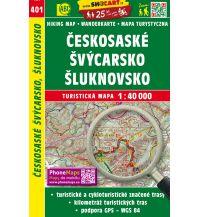 Wanderkarten Tschechien SHOcart Wanderkarte 401, Českosaské Švýcarsko/Böhmische Schweiz, Šluknovsko/Schluckenau 1:40.000 Shocart