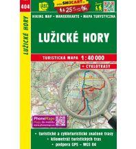 Wanderkarten Tschechien SHOcart-Wanderkarte 404, Lužické hory/Lausitzer Gebirge 1:40.000 Shocart