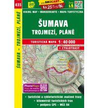 Wanderkarten Tschechien SHOcart Wanderkarte 435, Šumava/Böhmerwald, Trojmezí/Dreiländereck, Pláne 1:40.000 Shocart