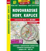 Wanderkarten Oberösterreich SHOcart Wanderkarte 442, Novohradské hory/Gratzener Bergland, Kaplice/Kaplitz 1:40.000 Shocart
