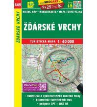 Wanderkarten Tschechien SHOCart WK 449 Tschechien - Zdarske vrchy 1:40.000 Shocart