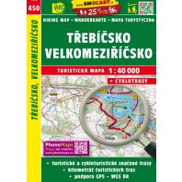 Wanderkarten Trebicsko Velkomeziricsko 1:40.000 Shocart