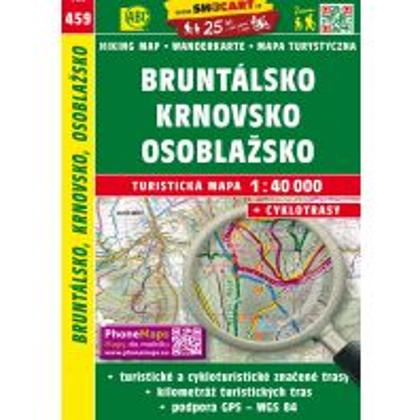 Wanderkarten Bruntalsko Krnovsko Osoblazsko 1:40.000 Shocart