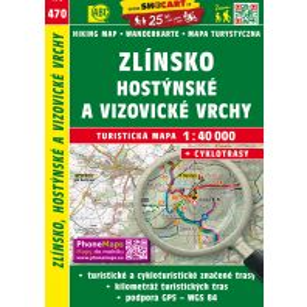 Wanderkarten Zlinsko 1:40.000 Shocart