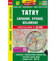 Wanderkarten Slowakei SHOcart Wanderkarte 473, Západné, Vysoké, Belianske Tatry 1:40.000 Shocart