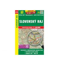 Wanderkarten Slowakei SHOcart Wanderkarte 474, Slovenský Raj/Slowakisches Paradies 1:40.000 Shocart