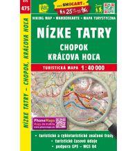 Wanderkarten Slowakei SHOcart Wanderkarte 475, Nizké Tatry/Niedere Tatra, Chopok, Králova Hola 1:40.000 Shocart