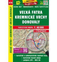 Wanderkarten Slowakei SHOcart Wanderkarte 476, Velká Fatra/Große Fatra, Kremnické vrchy/Kremnitzer Berge, Donovaly 1:40.000 Shocart