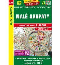 Wanderkarten Slowakei SHOcart Wanderkarte 477, Malé Karpaty/Kleine Karpaten 1:40.000 Shocart