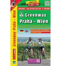 Radkarten Fernradweg-Karte Greenway Praha/Prag - Wien 1:110.000 Shocart