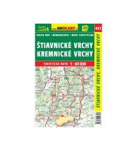 Wanderkarten Slowakei SHOcart WK 482, Stiavnicke vrchy, Kremnicke vrchy 1:40.000 Shocart