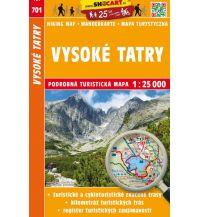 Wanderkarten Tschechien SHOcart-Wanderkarte 701, Vysoké Tatry/Hohe Tatra 1:25.000 Shocart