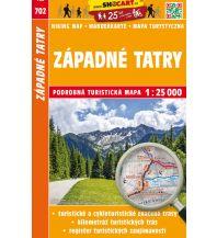 Wanderkarten Tschechien SHOcart-Wanderkarte 702, Západné Tatry/Westliche Tatra 1:25.000 Shocart
