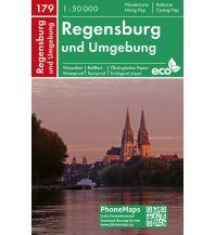 Wanderkarten Bayern PhoneMaps Wander- und Radkarte 179, Regensburg und Umgebung 1:50.000 PHONEMAPS