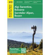Wanderkarten Italien PhoneMaps Wander- und Radkarte 312, Sarntaler Alpen, Bozen 1:50.000 PHONEMAPS