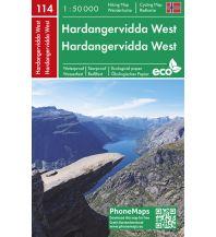 Wanderkarten Skandinavien PhoneMaps Wander- und Radkarte 114, Hardangervidda West 1:50.000 PHONEMAPS