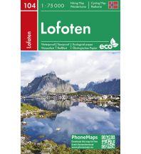 Wanderkarten Skandinavien PhoneMaps Wander- und Radkarte 104, Lofoten 1:75.000 PHONEMAPS