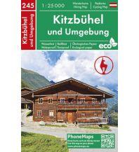 Wanderkarten Tirol PhoneMaps Wander- & Radkarte 245, Kitzbühel und Umgebung 1:25.000 PHONEMAPS