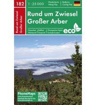 PhoneMaps Wander- & Radkarte 182, Rund um Zwiesel, Großer Arber 1:25.000 PHONEMAPS