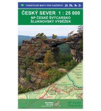 Wanderkarten Tschechien Geodézie-Karte 90, Ceský sever/Nordböhmen - NP Ceské Švýcarsko, Šluknovský výbežek 1:25.000 Geodezie CS Digitalni Kartografie