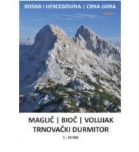 Wanderkarten Serbien & Montenegro Kleslo-Wanderkarte Maglic, Bioc, Volujak, Trnovacki Durmitor (BiH, Montenegro) 1:33.000 Eigenverlag Michal Kleslo