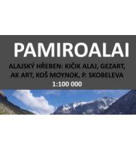 Wanderkarten Asien Kleslo-Trekkingkarte Pamiroalai 1:100.000 Eigenverlag Michal Kleslo