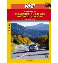 Reise- und Straßenatlanten Tatraplan Autoatlas Slowakei - Slovensko / Slowakei 1:100.000 + Europa 1:3.750.000 Tatraplan s.r.o.