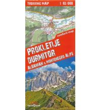Wanderkarten Serbien & Montenegro Terraquest Trekking Map Prokletije, Durmitor 1:65.000 terraQuest