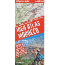 Stadtpläne Trekking Map Marokko - High Atlas Morocco - Jbel Toubkal 1:100.000 terraQuest