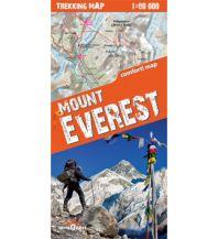 Wanderkarten Himalaya Terraquest Trekking Map Mount Everest 1:80.000 terraQuest