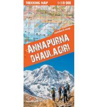 Wanderkarten Himalaya Terraquest Trekking Map Annapurna, Dhaulagiri 1:110.000 terraQuest