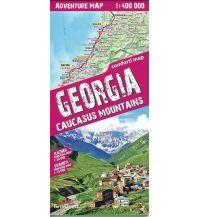 Wanderkarten Georgien Terraquest Trekking Map Georgien/Georgia, Caucasus 1:400.000 terraQuest