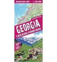 Wanderkarten Georgien Terraquest Adventure Map Georgien/Georgia - Caucasus Mountains 1:400.000 terraQuest