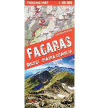 Terraquest Trekking Map Făgăraș, Bucegi, Piatra Craiului 1:80.000 terraQuest