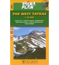 Wanderkarten Slowakei TatraPlan Wanderkarte 2501, The West Tatras/Westliche Tatra 1.25.000 Tatraplan s.r.o.