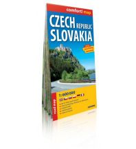 Straßenkarten Slowakei Comfort! map Czech Republic, Slovakia Expressmap
