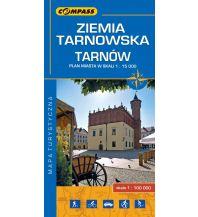 Stadtpläne Compass Polen Mapa Turystyczna, Ziemia Tarnowska, Tarnów 1:100.000/1:15.000 Compass