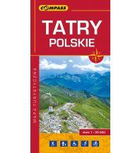 Wanderkarten Polen Compass Polen Mapa Turystyczna, Tatry Polskie/Polnische Tatra 1:30.000 Compass