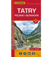 Wanderkarten Slowakei Compass Polen Mapa Turystyczna, Tatry Polskie i Slowackie 1:50.000 Compass