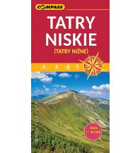 Wanderkarten Slowakei Compass Mapa Turystyczna Tatry Niskie/Niedere Tatra 1:50.000 Compass